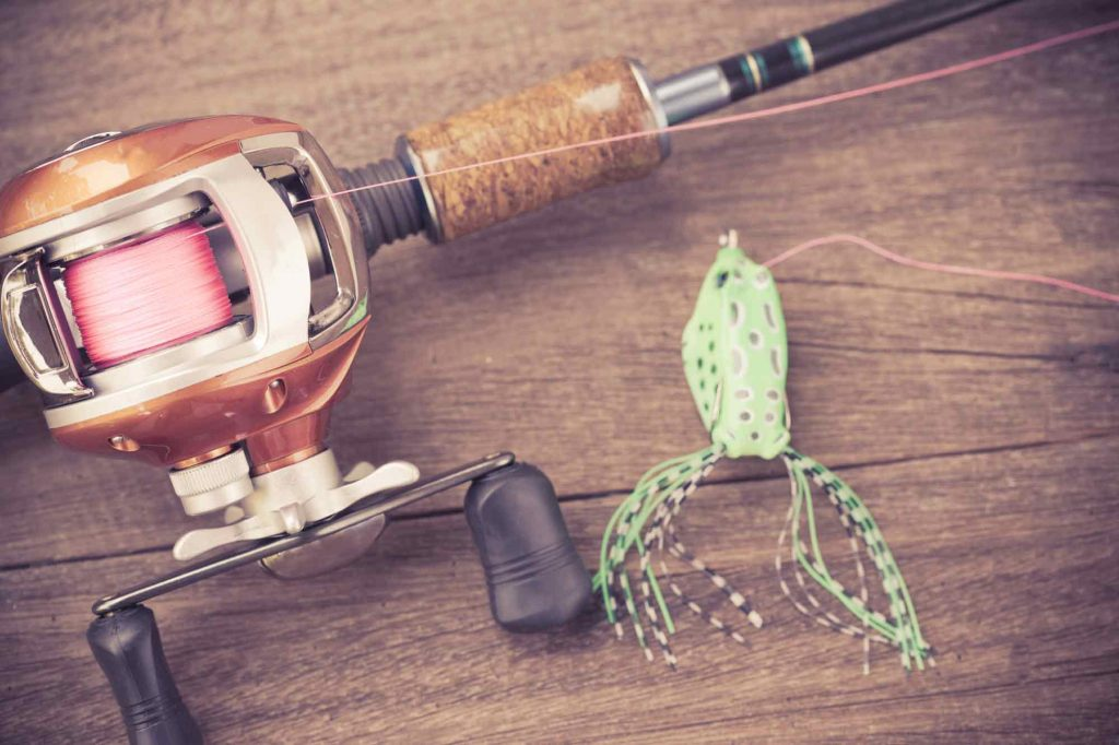 baitcasting reel fishing set up